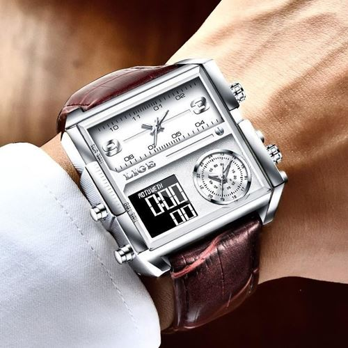 Picture of LIGE Sports Men  Watch Digital Watches- LIGE 8925  brown